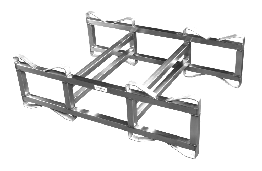 "Stainless Steel 7"" Double Bar, 2 barrel rack"
