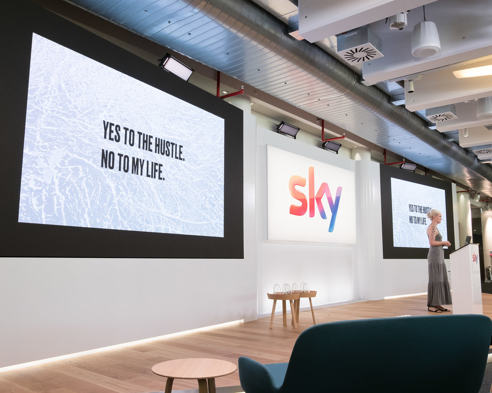 Keynote for Sky TV x Adobe in London
