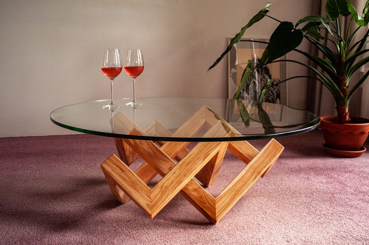 Houten Salontafel Design.De La Rie Design