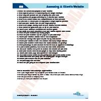 Checklist-ASSESSING A CLIENT'S WEBSITE