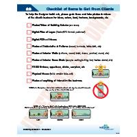 TO DO CHECKLIST - When Visiting Client Photos&Logos
