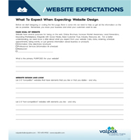 WEBSITE EXPECTATIONS -   Have client fill out