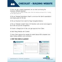 CHECKLIST - When Building A Website
