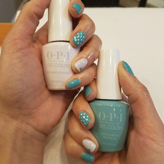 Much needed nail therapy with @rmp1981 ❤️ She used the colorful new and exciting line from #OPIgel. Love these new Spring colors! Call for your appointment today! 💅🏼#latesttrend #manicure #lisboncollection #edmond #smallbusiness #supportlocal #prettynails #nailswag