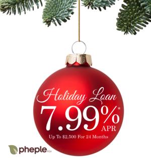 Holiday Loan 7.99%