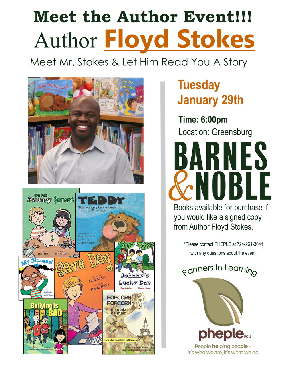 Meet Author Floyd Stokes at Barnes and Noble