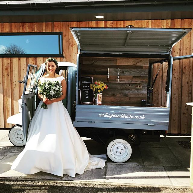 Why not pop along to @coco_salon_spa today for their Wedding Fair, come and see the stunning dresses provided by @wedding_daze_nairn and enjoy a wee candy floss prosecco taster from The Wee Dram Van!! 🥂👰🏻💖 #theweedramvan #wildhighlanddrinksco #wedding #bride #groom #highlandwedding