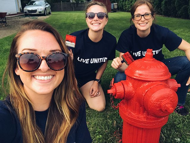 Team United Way had a great time volunteering in Alma painting fire hydrants this morning!