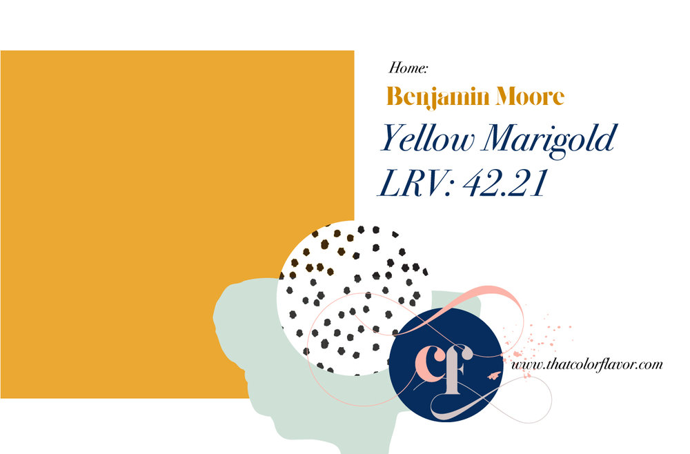 - And a slightly brighter shade for your walls by Ben Moore (we're on a nickname basis at this point).