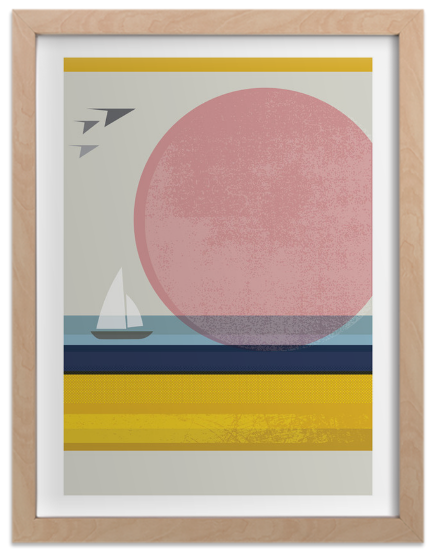 Add this specialpiece, Pink Horizon, toyour collection. - Texture and form were my main objective in portraying a landscape in their simplest forms.Purchase here.