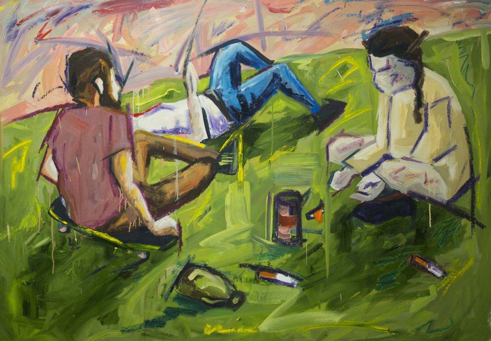 PICNIC,   2018   Oil on canvas  165cm x 120cm