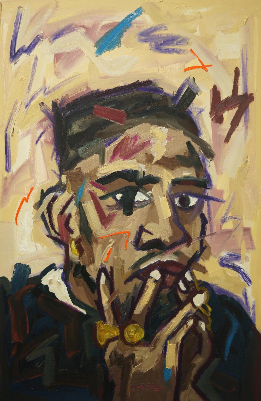 EKPE MATE,   2018   Oil on canvas  85cm x 130cm