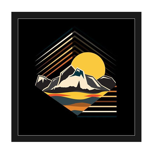Mountain and  Desert Dunes Illustration @greatsanddunesnps #mountains #artistsoninstagram #art #atxartist #illustration #illustrator #illustragram #artist #eastside #eastaustin #texasartist #nature #hiking #mountaineering #pioneer #travel #sunshine #sunset #contemporaryart #graphicdesign #graphicdesigner #newmedia #adobe #desert #nps