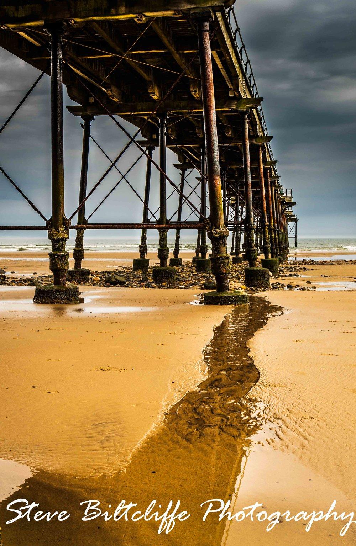 Saltburn - Refections under the pier