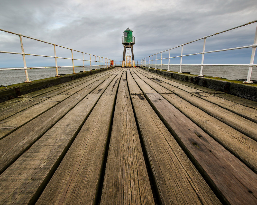 Lighthouse at the end of the pier