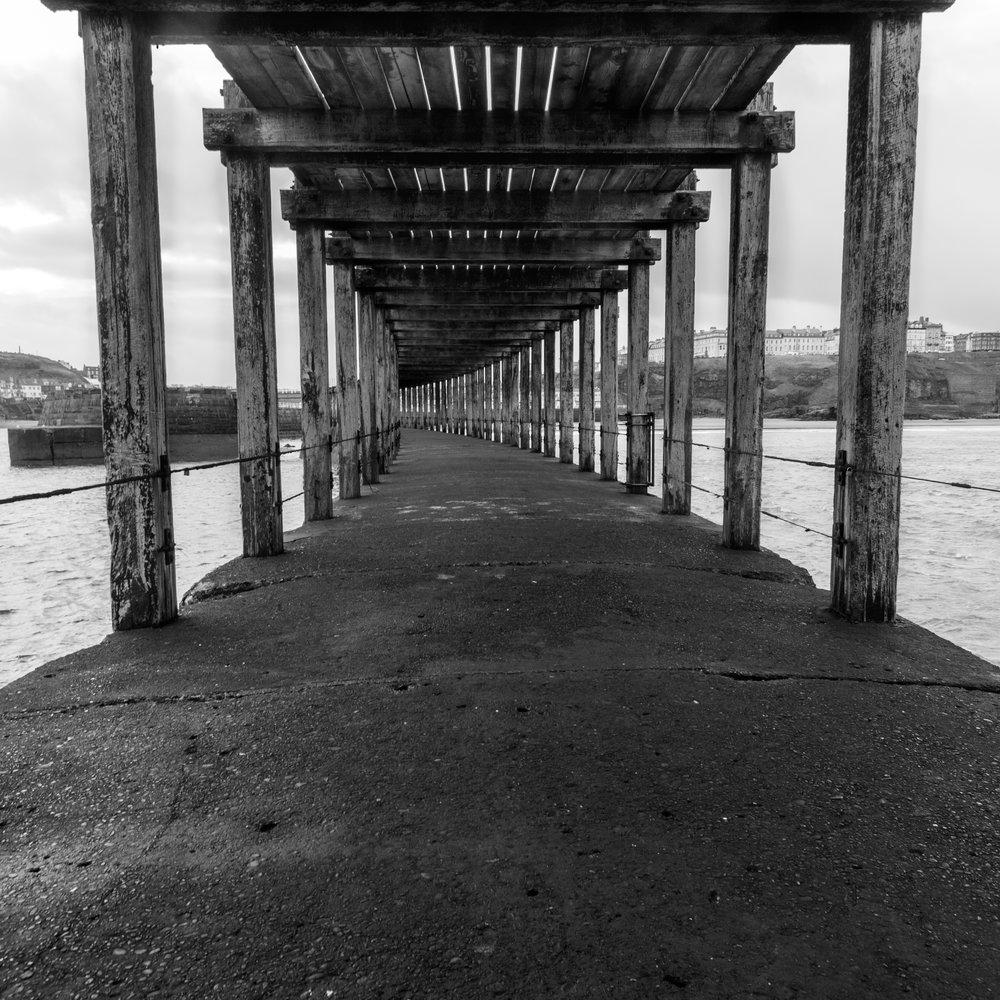 B&W under the pier