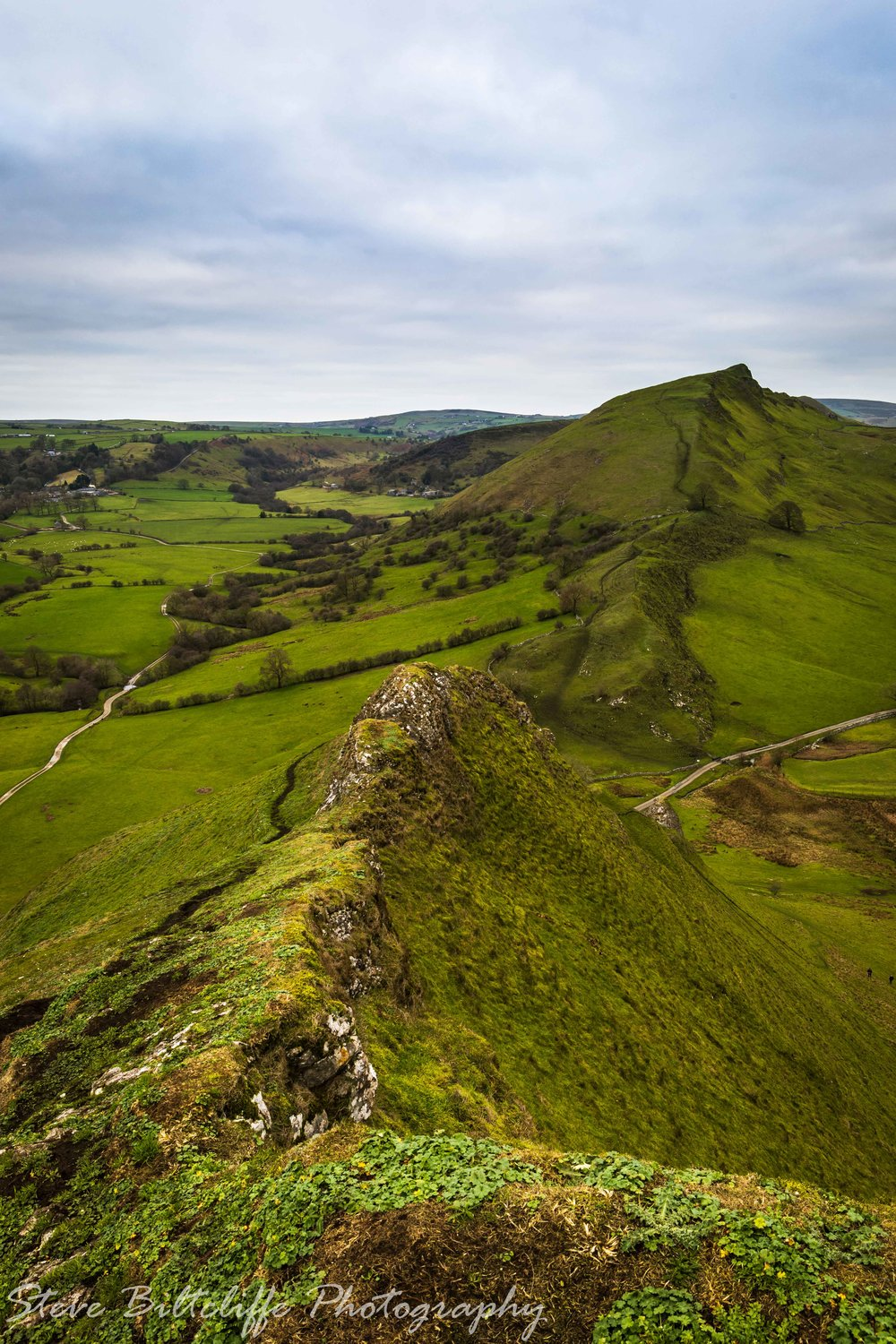 Top of Chrome Hill overlooking Parkhouse Hill