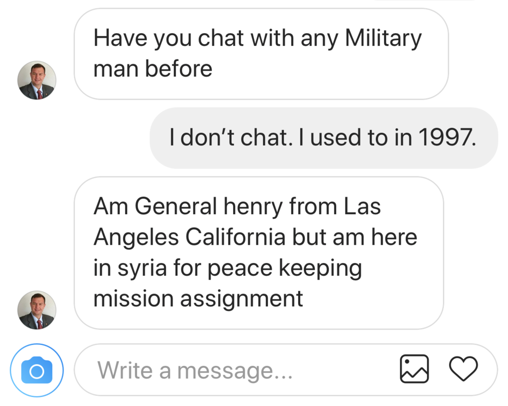 Chatted with Military Men Question