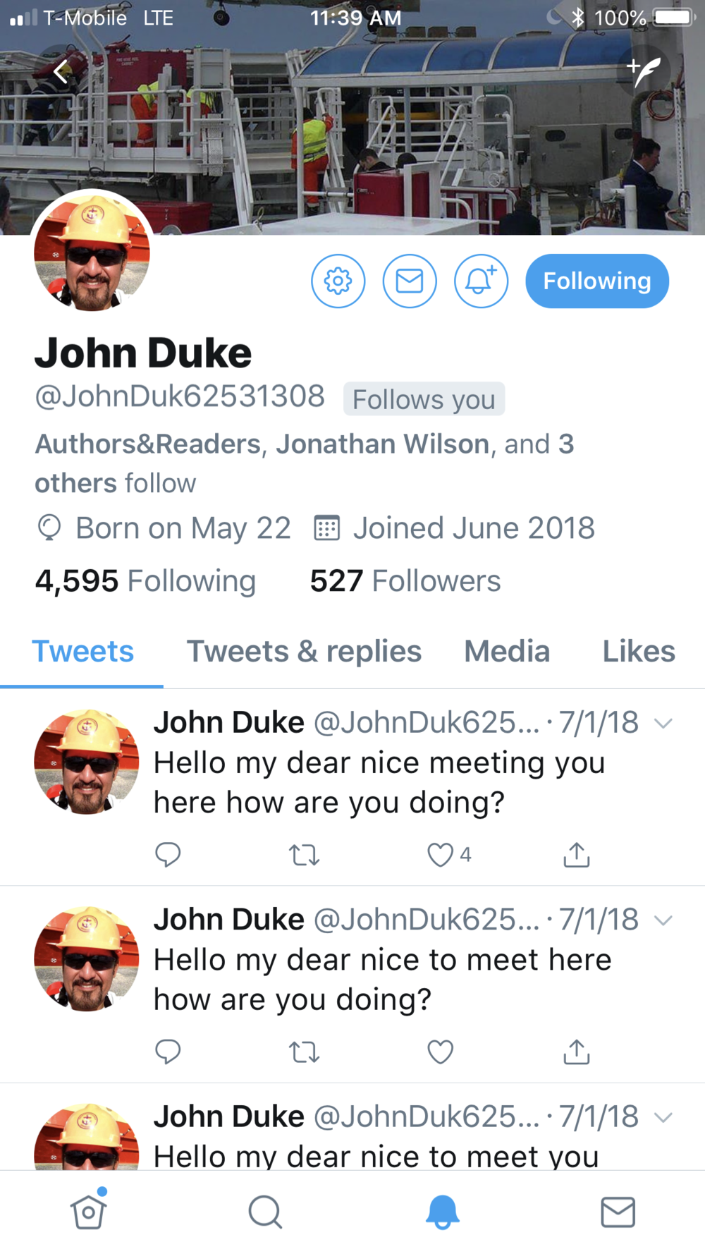 John Duke New User