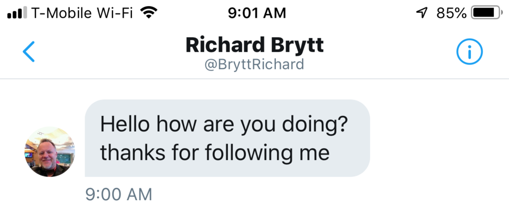 Richard Brytt Message
