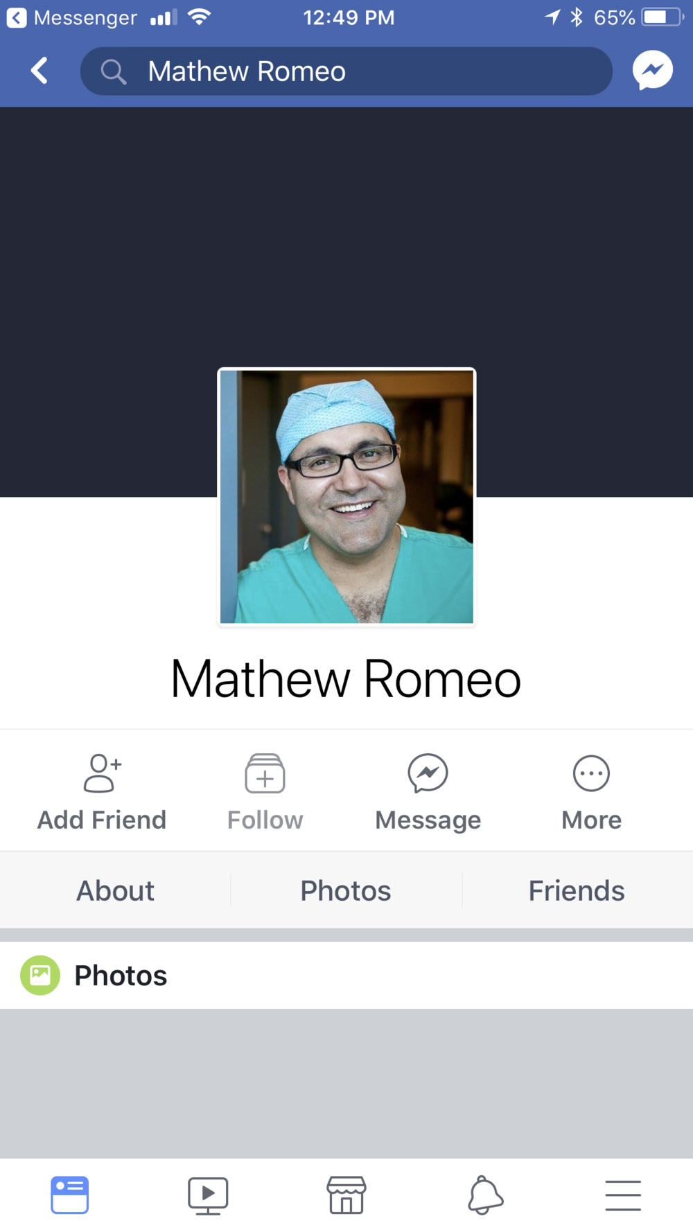 Enter Mathew ROMEO