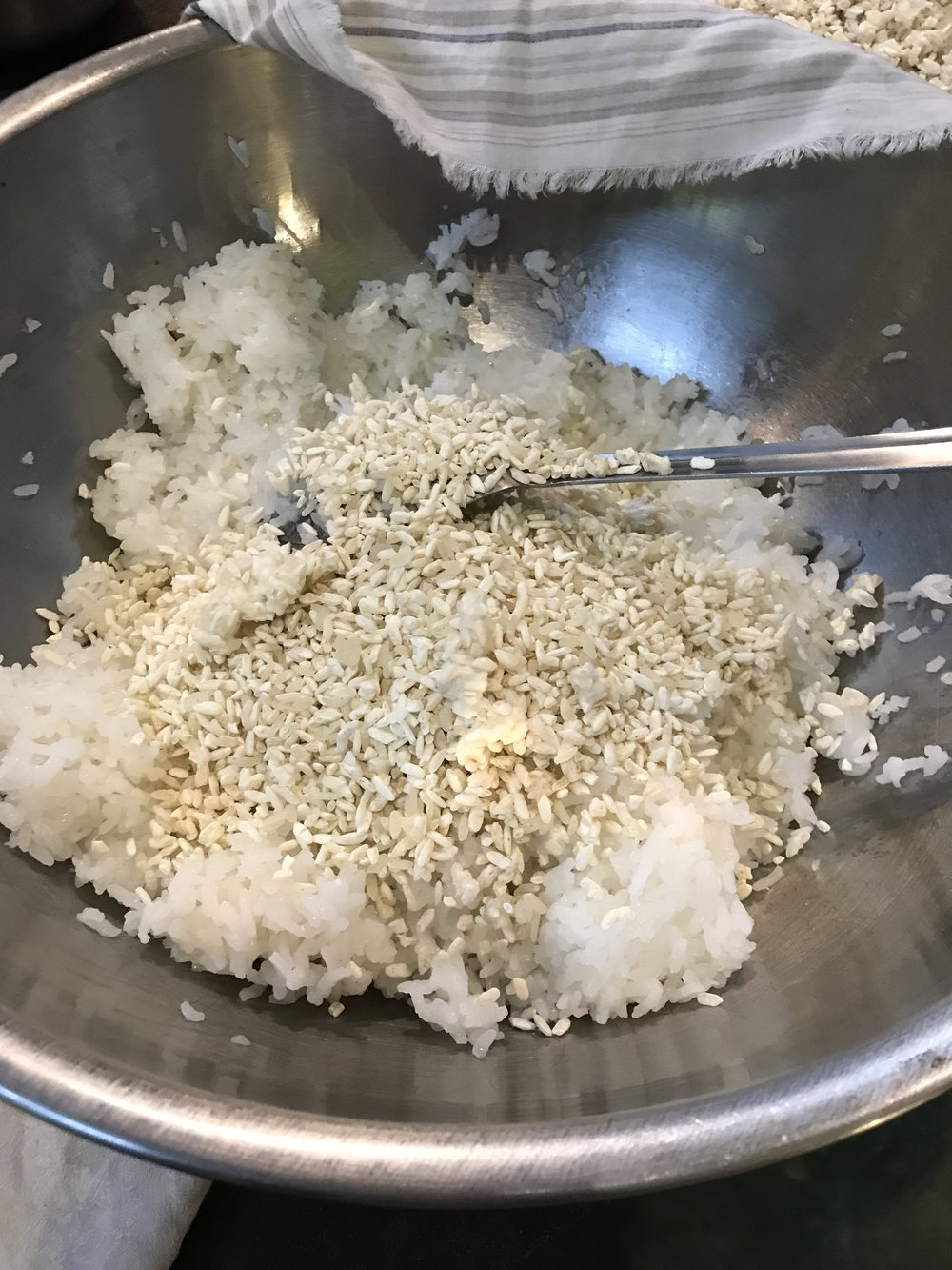 First make rice Koji