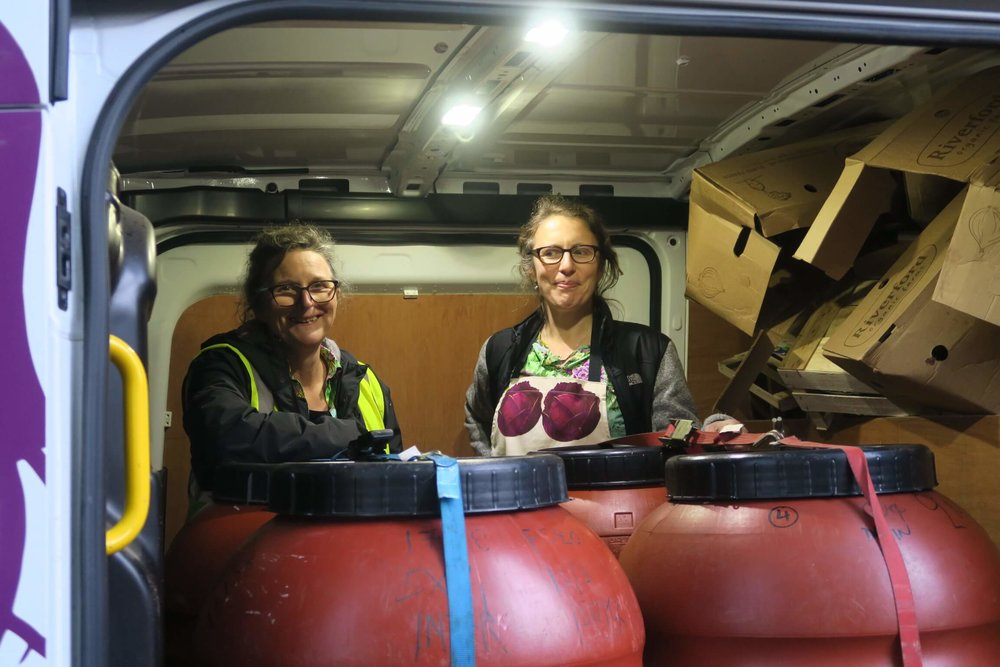 45. Jo and Katie in the van.JPG