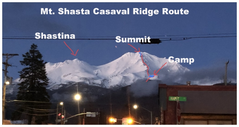 Mt Shasta Casaval Ridge Route