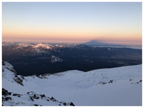 Mt Shasta's Shadow during the sunrise