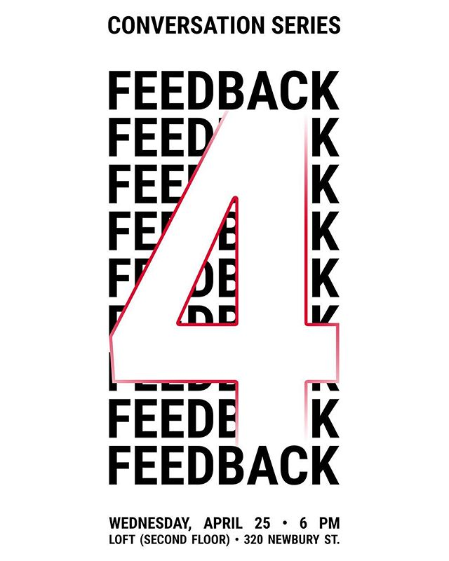 Happening Wednesday, April 25th, 6pm at the Loft! Join to discuss FEEDBACK as we approach finals week.  #conversationattheloft #feedback
