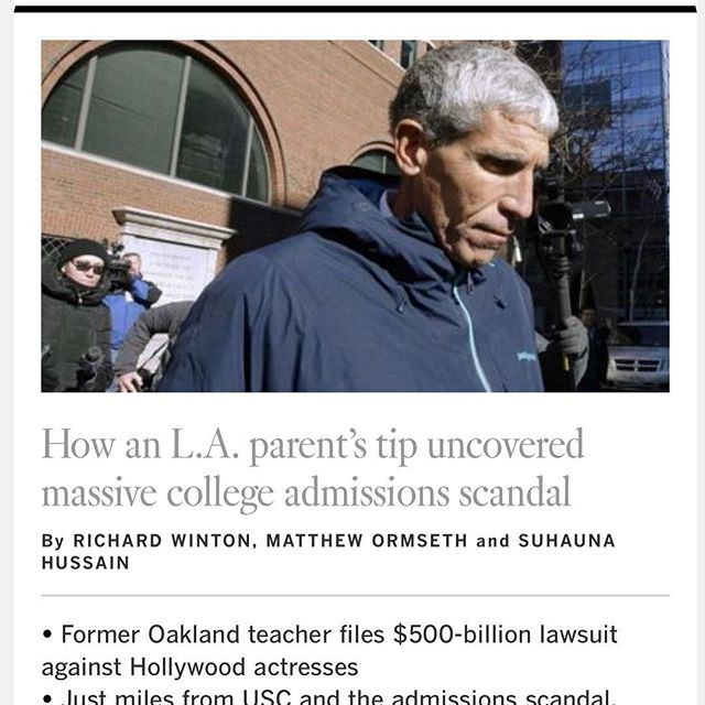 Where do we even start to explain the failure in the college fraud scandal? Is it the parents who failed to accept their kids for who they are? Is it the administrators and coaches who failed to do the right thing in the face of bribe money? Is it the pervasive emphasis on perfection and winning over being happy and good? The lessons from this failure are plentiful. As long as we take the time to learn from them. Its time to start a new and necessary conversation about letting our children fail and why it's so hard for parents to tolerate that failure. #failure #parenting #collegescandal