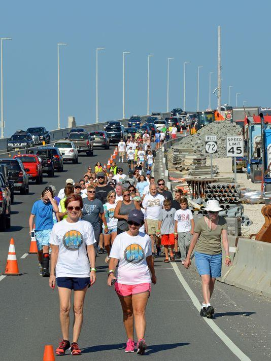 Walk the bridge, support our local schools. Photo: Courtesy Jetty.