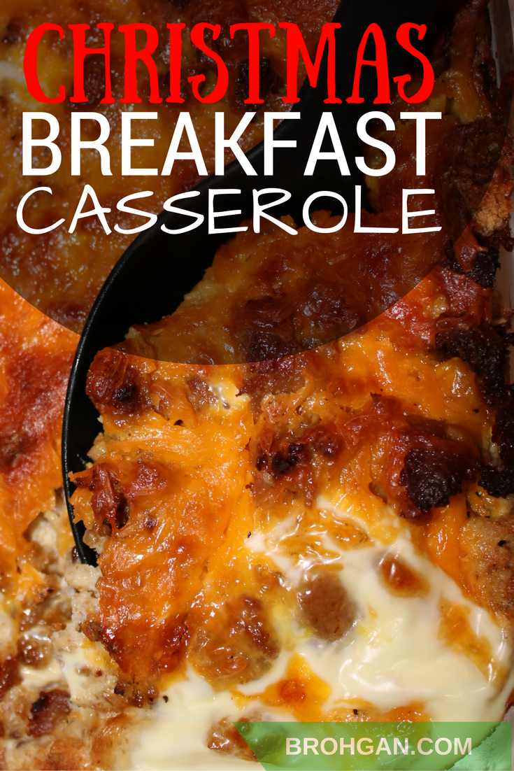 Festive, sturdy breakfast casserole, with eggs, sausage, and cheese, is delicious enough to save for a special holiday, but this practical recipe is also perfect for weeknight meals too! Make ahead and refrigerate overnight so that the flavors meld -- it's a little bit of Christmas that can be savored all year long!