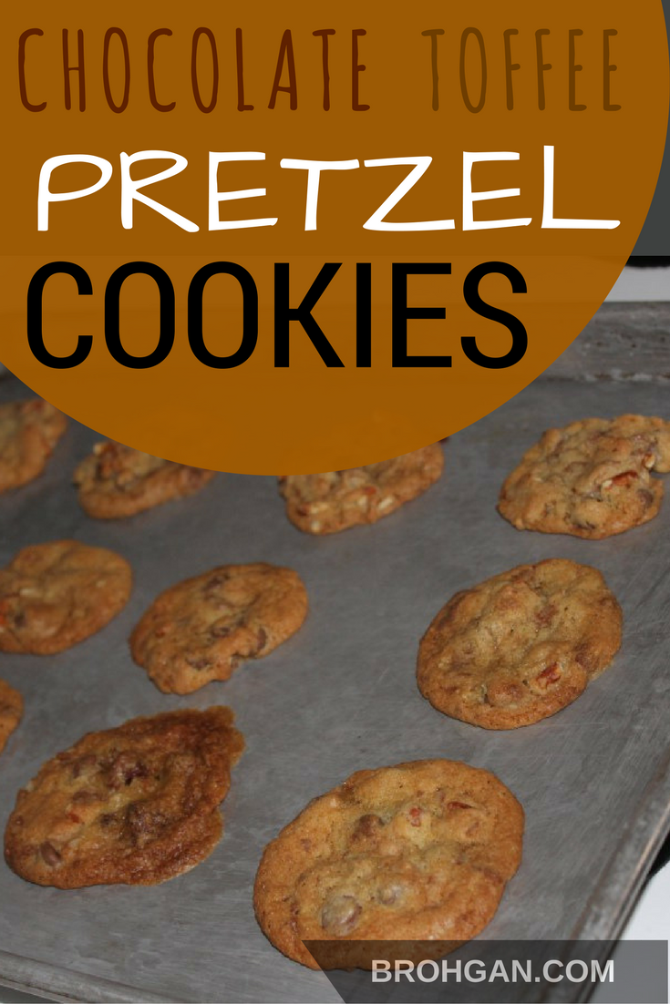 These Toffee Chocolate Pretzel Cookies are the perfect thing to satisfy that sweet/salty craving. It's my favorite cookie recipe. After the recipe mysteriously disappeared off the internet, I was able to recreate it! I am so excited to share it with you!
