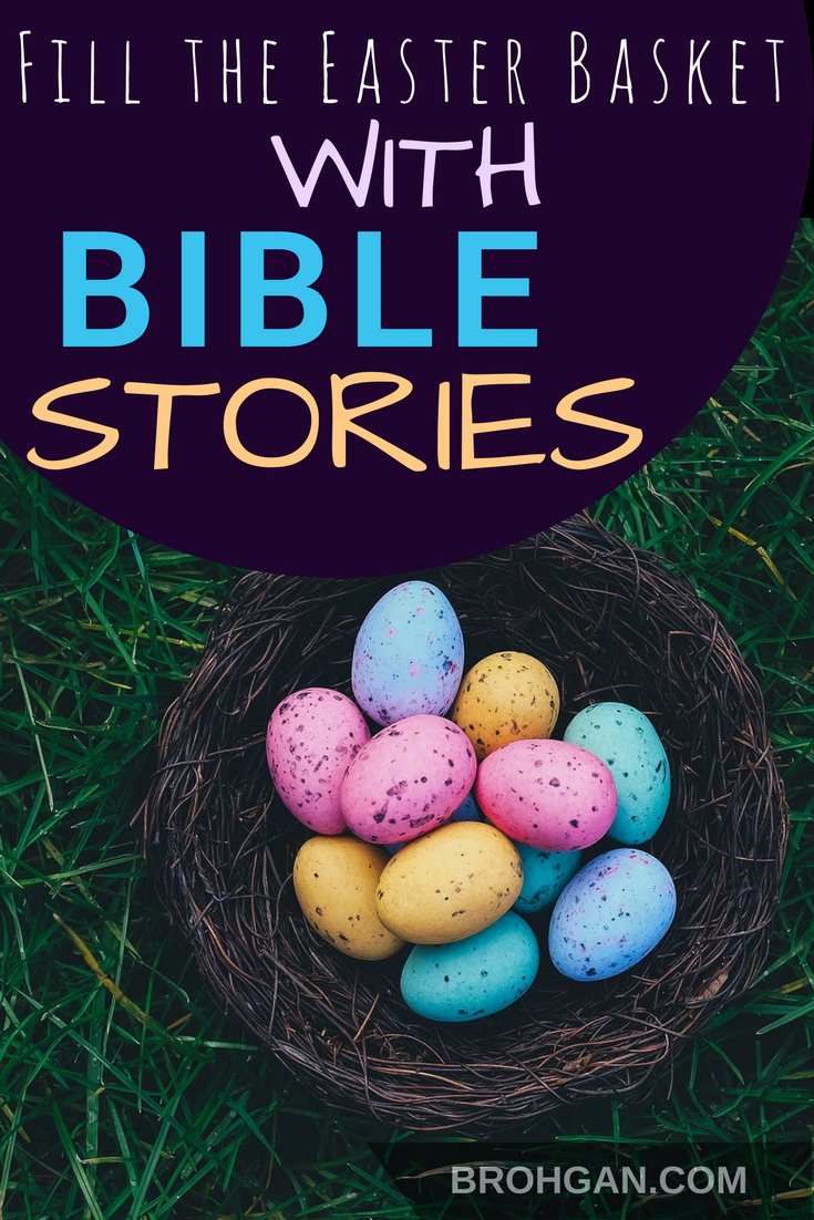 We absolutely do not need any more toys or sweets at this house. So I got to thinking… what if the gift that was sitting out on Easter morning pointed back to the real reason we're celebrating? Why not Bible stories?