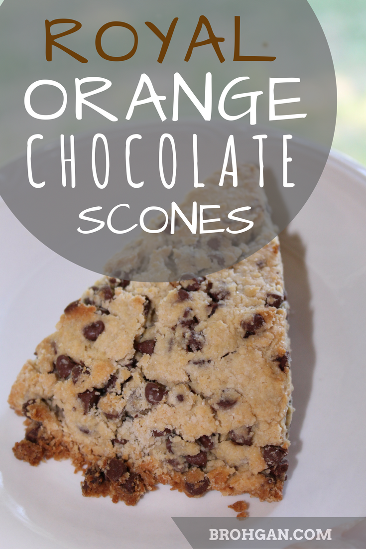 Simple chocolate scones sweetened with just enough orange juice.