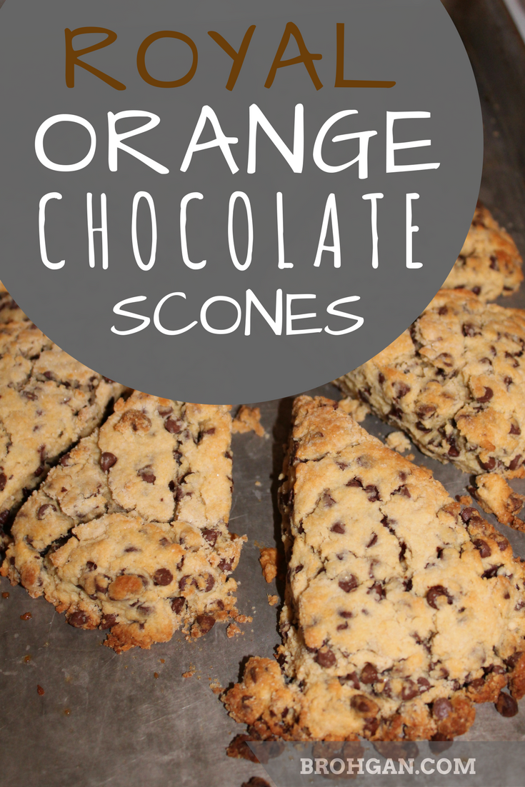 Simple chocolate scones sweetened with just enough orange juice.