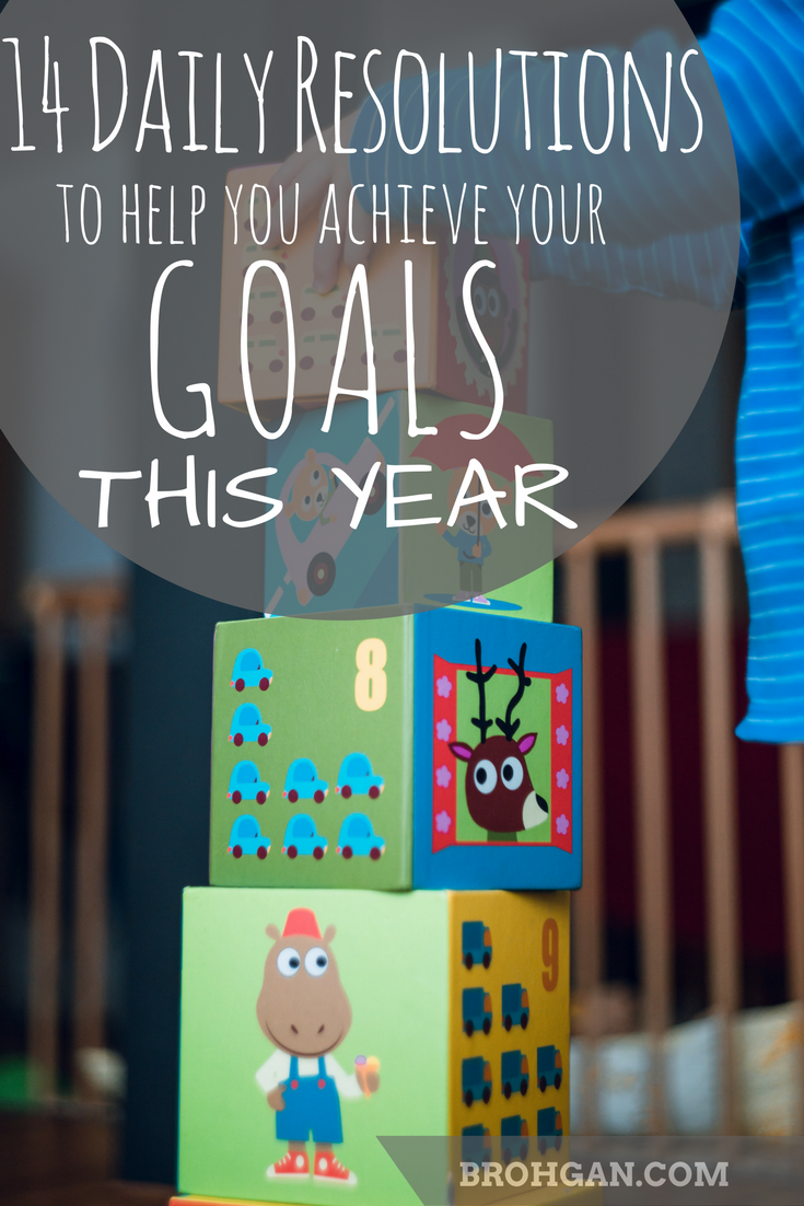 It's been 5 days. Have you given up on your New Year's Resolution?? Is there a way that you could chunk down your goal?