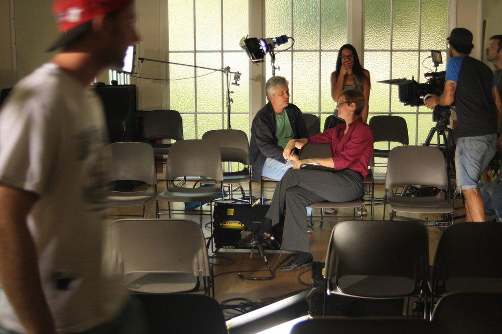 On the set of  Darryl .