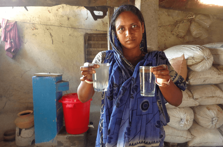 OHorizons' BioSand Water Filter in a Bangladeshi Family's Home.