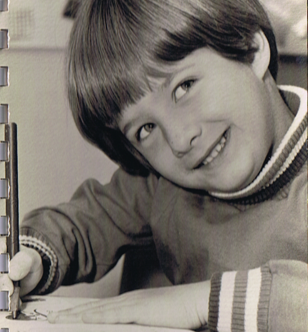 Alan as a young aspiring writer.
