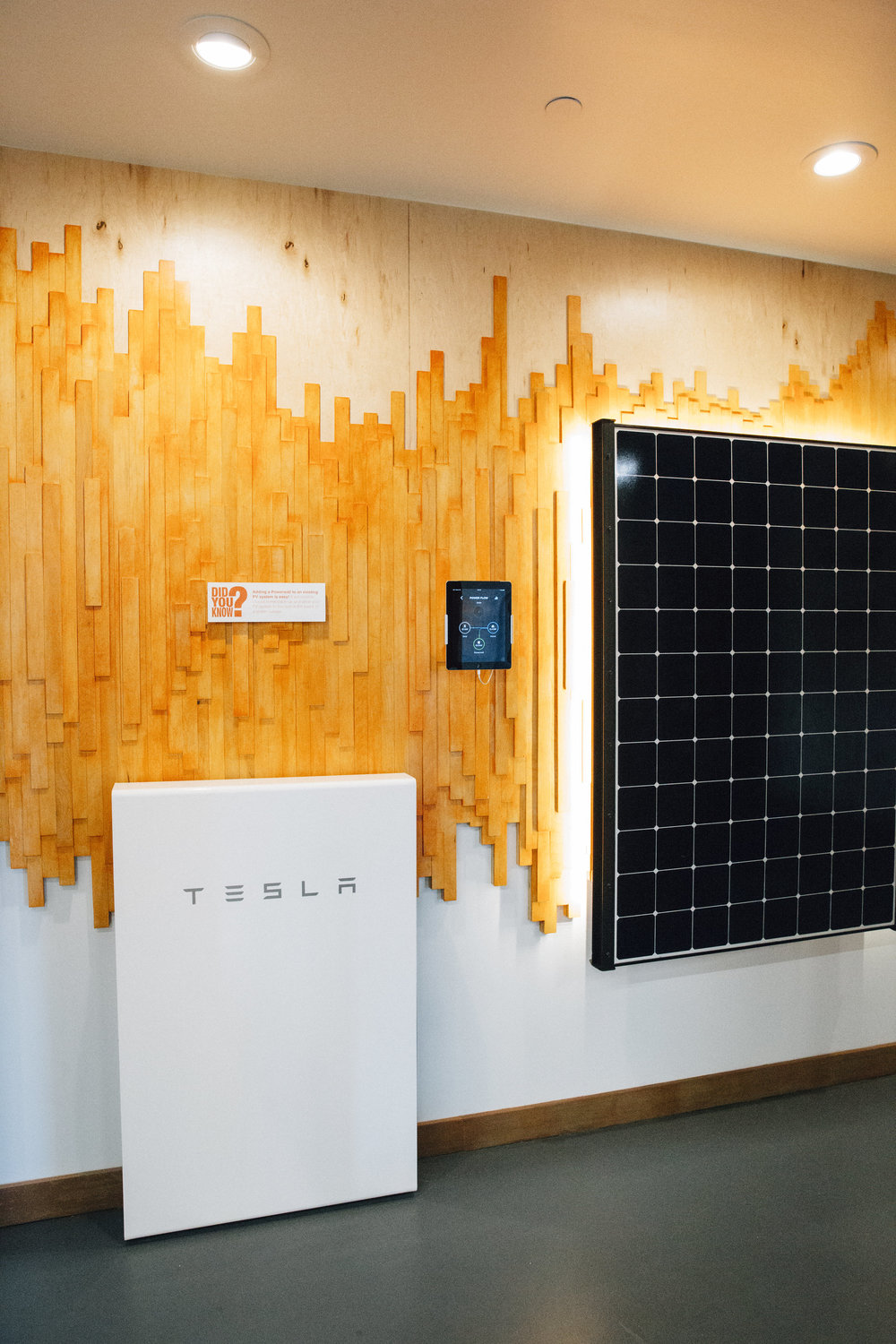 RevoluSun Smart Home Innovation Center Showroom - Tesla Powerwall + PV Panel