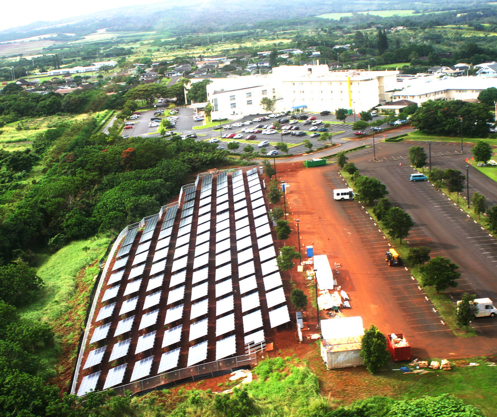 Wilcox Memorial Hospital (2009)   500kW Ground Mounted Array