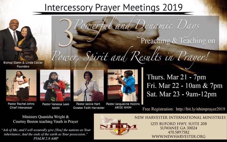 HOST - BISHOP GLENN & LINDA COLLIER, PASTOR RACHEL JOHNS, PASTOR VANESSA PHUONG LEAK, PASTOR JACKIE HART, PASTOR JACQUELINE BAXTER-HOLLINS and Directing Youth In Prayer - MINISTERS QUANISHA WRIGHT & COURTNEY BOSTON