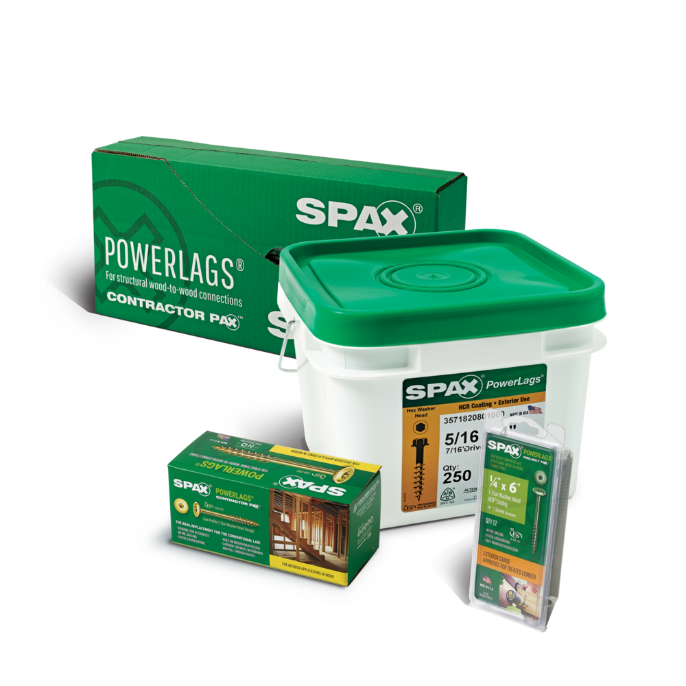 SPAX FASTENERS PACKAGING BULK POWERLAGS
