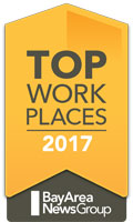 2017 Top Workplace in the Bay Area by The Bay Area News Group