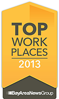 2015 Top Workplace in the Bay Area by The Bay Area News Group