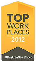2012 Top Workplace in the Bay Area by The Bay Area News Group