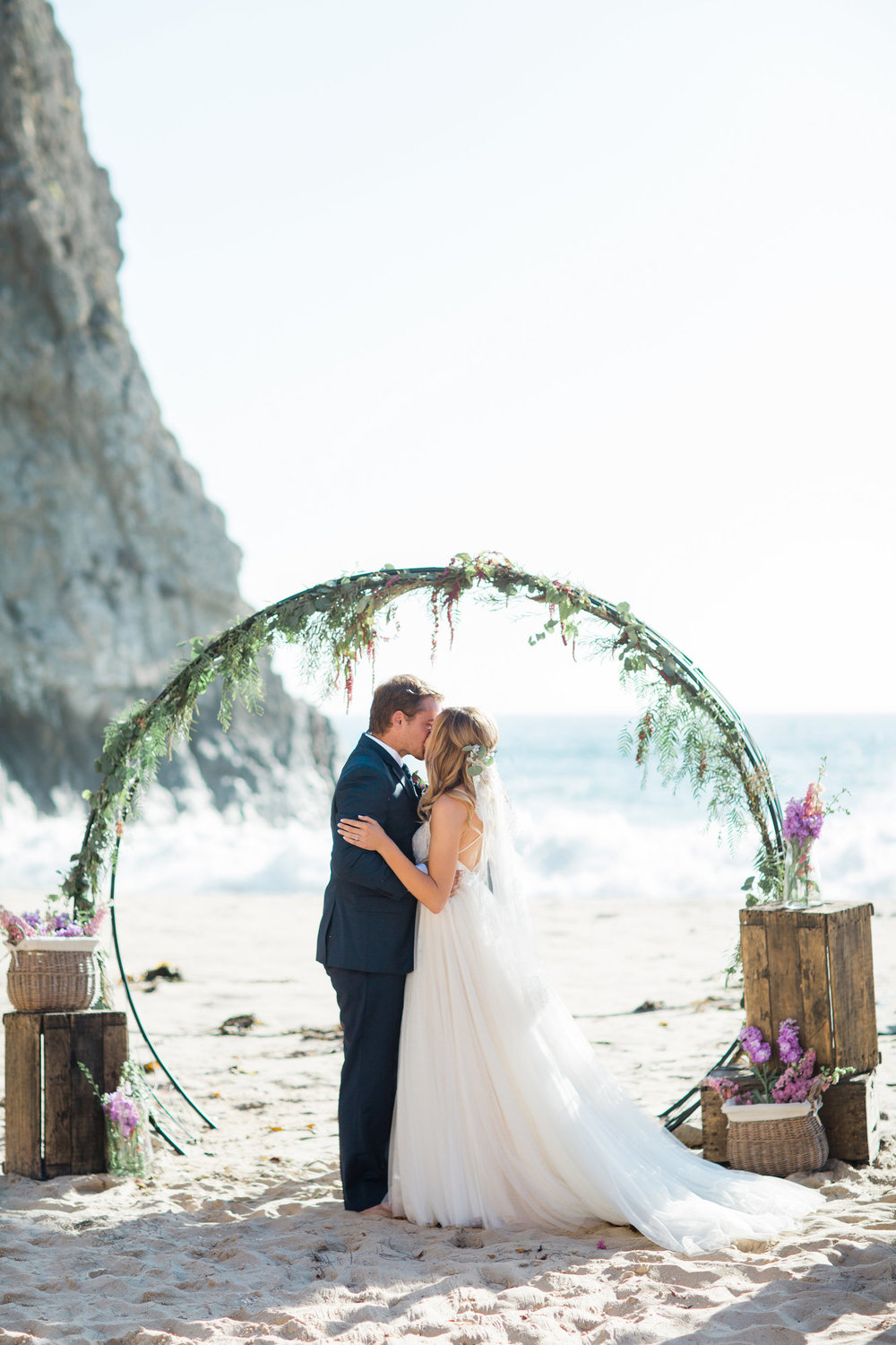 Venue- Crystal Cove State Park, Moro Cove, Laguna Beach, Ca; Photography- Lauriana Fortuna , Hair & Makeup- Roots Beauty