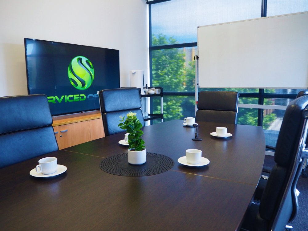 Boardroom and Meeting Rooms - Boardrooms and Meeting Rooms are equipped with a television, water cooler, and complimentary tea and coffee. Catering is also available upon request.*Some paid services such as Boardroom hire may be included in an Agreement as complimentary hours per month.